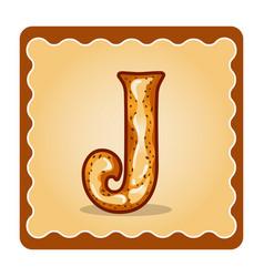 Letter j candies vector