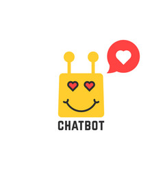 Lover yellow chatbot icon vector