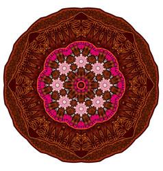 mandala brown oriental coloring book page mandala vector image vector image