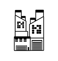 Manufacture building pollution pipes outline vector