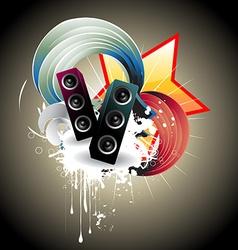 Music speaker design vector
