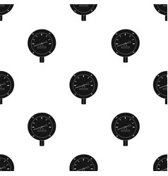 oil manometer icon in black style isolated on vector image