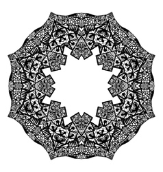 Outline Mandala for coloring book vector image vector image