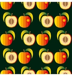 Peaches seamless background vector