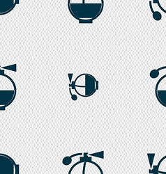 Perfume icon sign seamless pattern with geometric vector