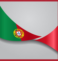 Portuguese wavy flag vector