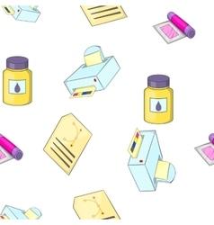 Print pattern cartoon style vector