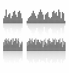 square sound waveforms music waves logo for sound vector image
