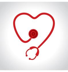 Stethoscope make a heart shape vector