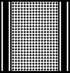 Striped keffiyeh seamless pattern vector