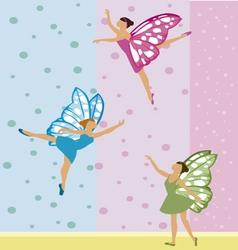 Three fairies vector