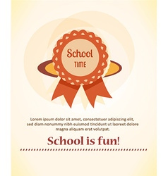 Education with badge vector