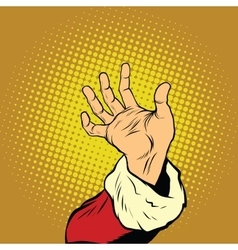 Hand of Santa Claus New year and Christmas vector image
