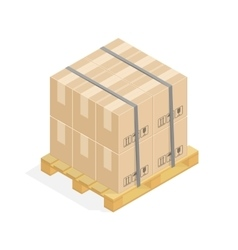 Cardboard boxes and pallets vector image