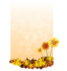 A paper with sunflowers vector image