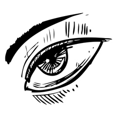 Sketch eye vector