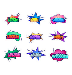 cartoon stars and cloud bubble speeches vector image