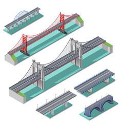 bridges isometric set vector image