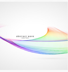 Awesome colorful smooth wave background vector