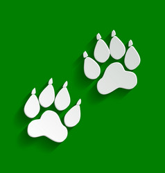 Animal tracks sign paper whitish icon vector