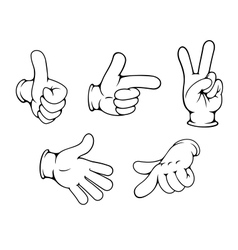 Set of positive hands gestures vector