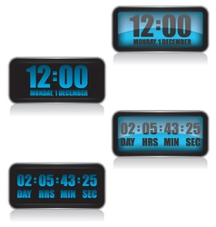 Digital clock and countdown vector