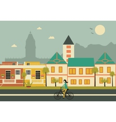 Cape town colored houses vector