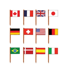 Sandwich flags vector