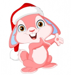 Christmas cute bunny vector