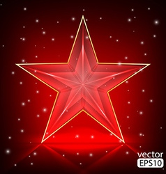 The bright red star vector image