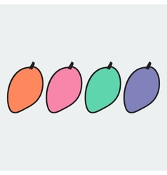 Hand drawn mango in doodle style vector