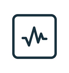 Pulse icon rounded squares button vector