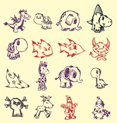 Pen doodles vector