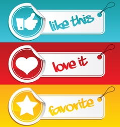 Like love and favorite tags vector
