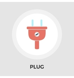 Electrical plug flat icon vector