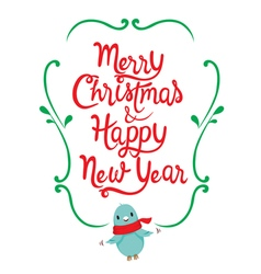 Christmas And New Year Lettering Frame vector image