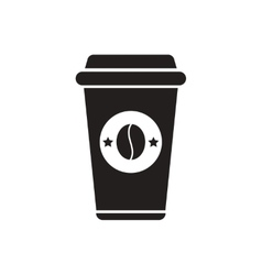 black icon on white background coffee to go vector image