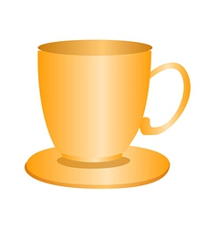 A view of a cup vector image vector image