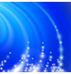 Abstract Blue Blurred Wave Background vector image vector image
