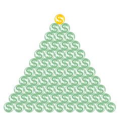 abstract dollar symbol pyramid vector image vector image