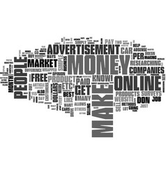 Best methods to make money online text word cloud vector