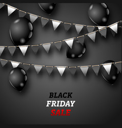 Black friday wallpaper with shiny balloons and vector