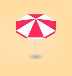Bright beach umbrella 3d vector