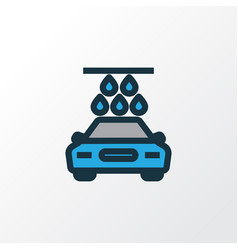 Carwash colorful outline symbol premium quality vector