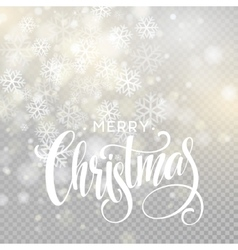 Christmas handwritten lettering text on blurred vector
