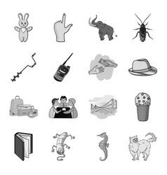 Conic sea water and other web icon in monochrome vector