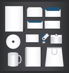 corporate brand identity template set vector image