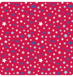 Cute pattern for kids - bright stars on clear sky vector