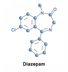 Diazepam calming medication vector