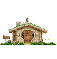 Fabulous forest gnome hut vector